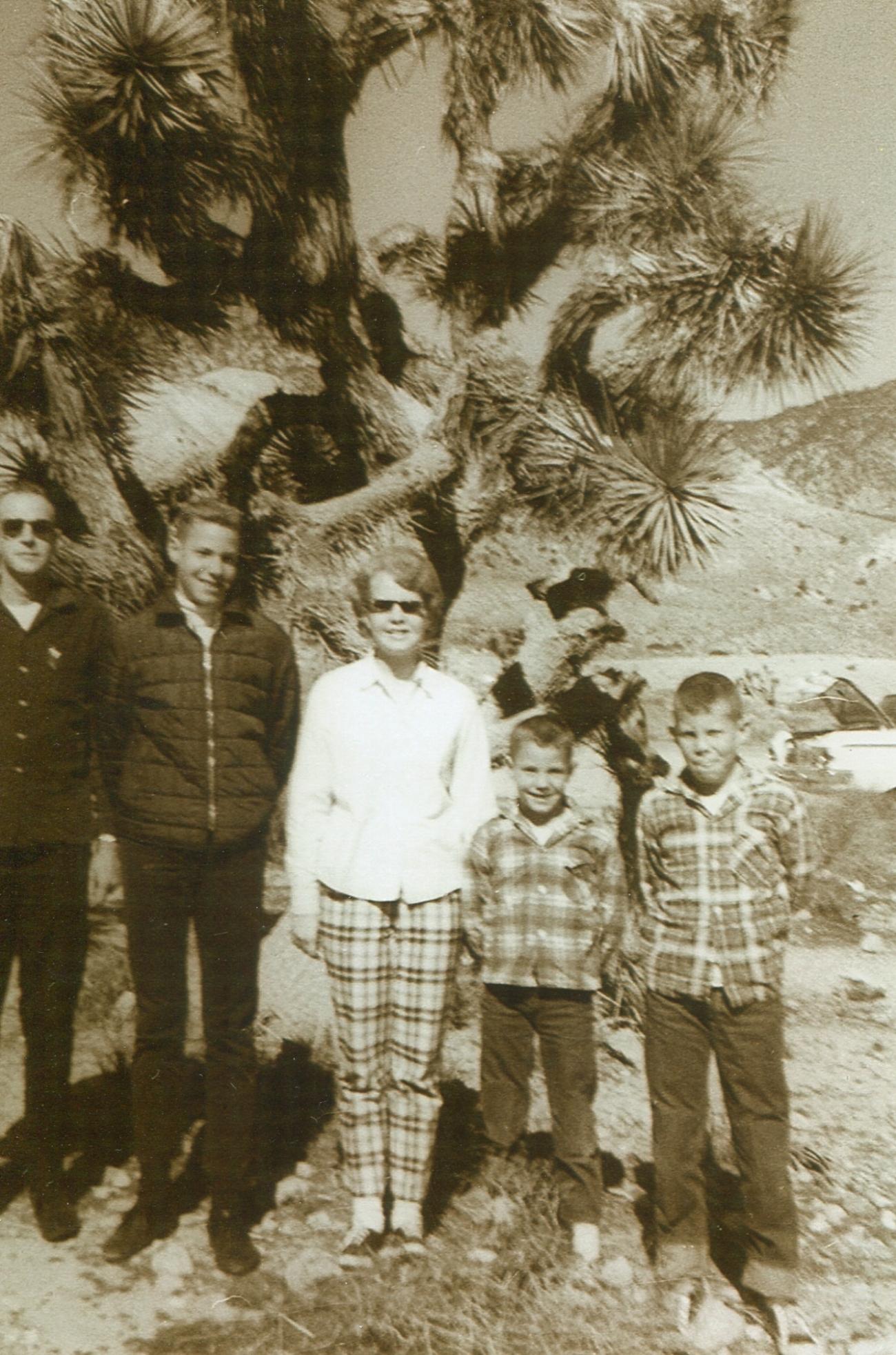 Pop, Steve, Cyndy, John and me on trip to California