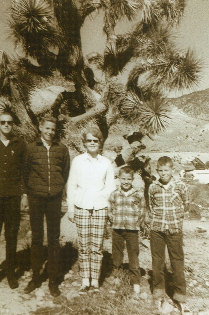 Pop, Steve, Cyndy, John and me on trip to California