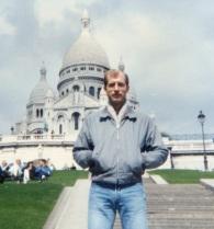 1988 snapshot of Dave at Sacre Coeur