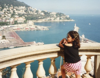 Veronica overlooking the port of Nice