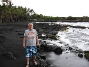 Me on black sand beach
