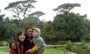 Frances with Rakesh and my grandson Andrew, 2009, Golden Gate Park, San Francisco