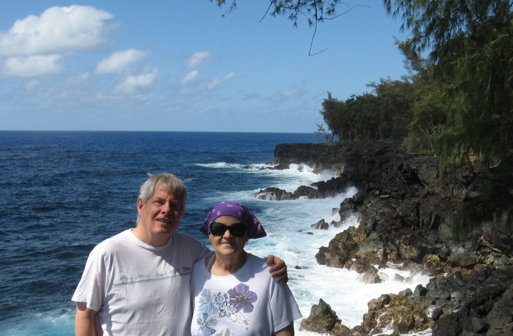 Ray and Cyndy at Mackenzie park, Hi 2013