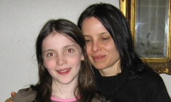 My writer friend Reine and her daughter Oona, who last I heard has grown as tall and beautiful as the sky