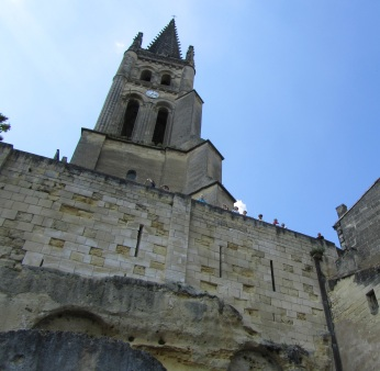 St Emilion church above St Emilion cave cathedral