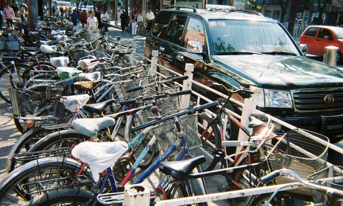 More parking for bikes than for cars on the city streets