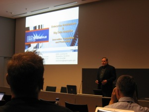 Steve presenting at the Enterprise Architecture Conference at Aalto University in Helsinki