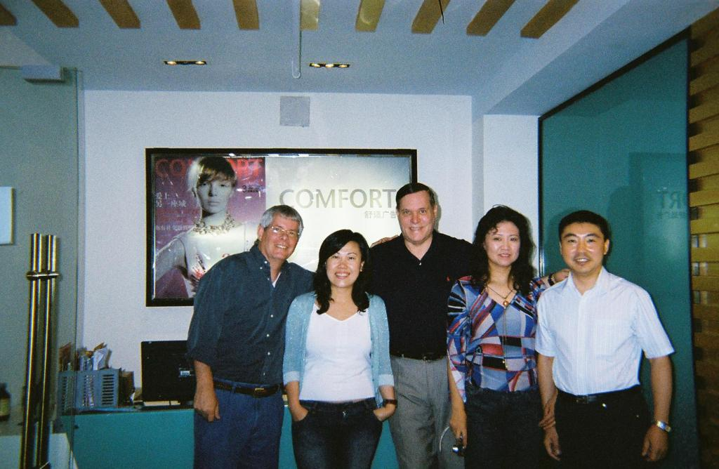 Me, Fawn's friend Meg, Steve, Fawn, and Fawn's friend Wu, owner of Comfort Magazine