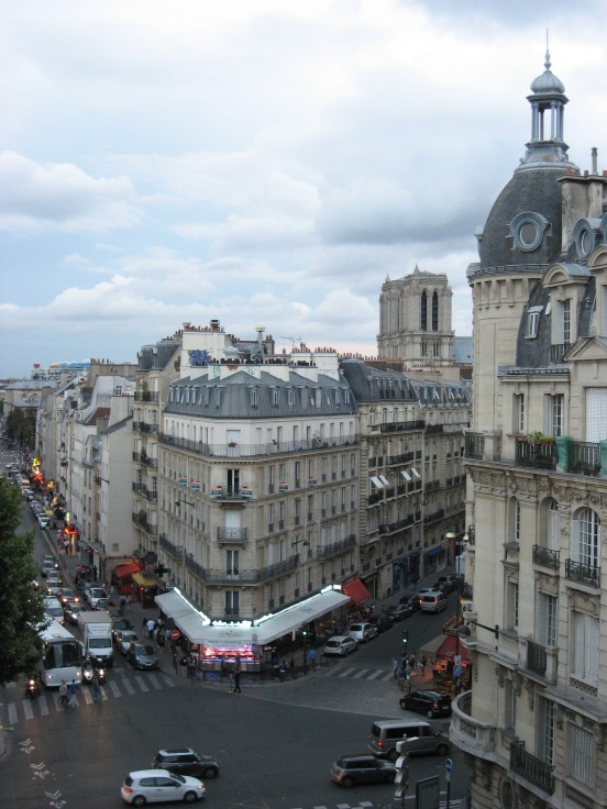 View from our hotel window in Paris Latin Quarter
