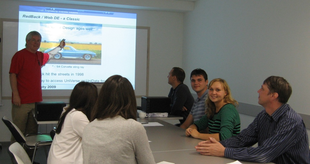 Me presenting U2 technology to the staff in Chelyabinsk