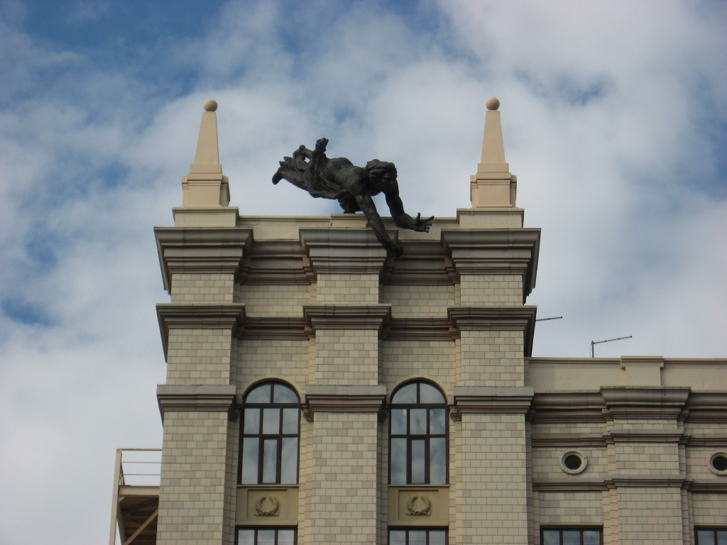 Chelyabinsk university statue