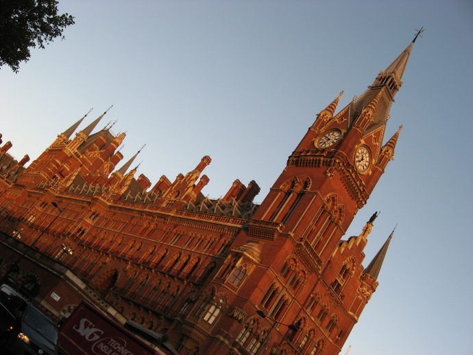 Exterior St Pancras international train station