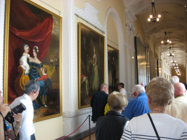 One of the many halls of portraits in the Hermitage