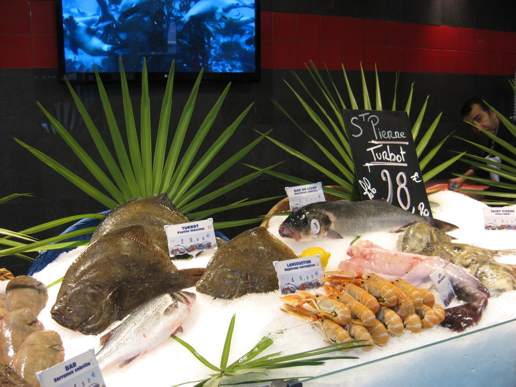Seafood shop display - even better cooked up!