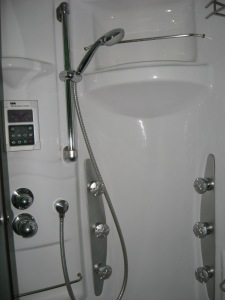 I had to ask the maid how to turn the water on! I dared not try to turn on the radio or the sauna light.