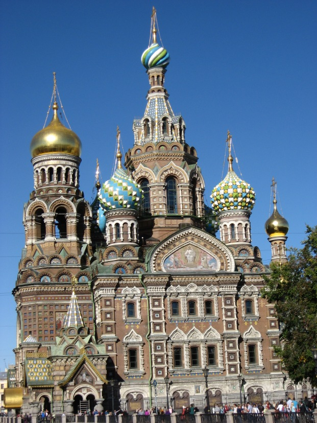 Candy Church - otherwise known as the Church of the Spilt Blood - built on the site of the assasination of Czar Alexander II