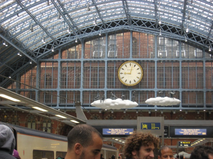 Interior of St Pancras train station
