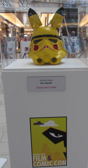 Comic con contest at Mall of the Emirates - this one's a Stormtrooper cosplaying Pikachu!