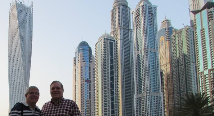 Dubai Towers me and Steve n Twisty Building