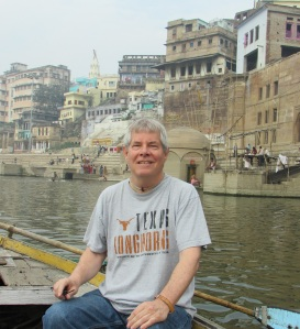 Me in rowboat taking in the ghats