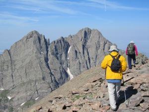 Walking the summit ridgeline