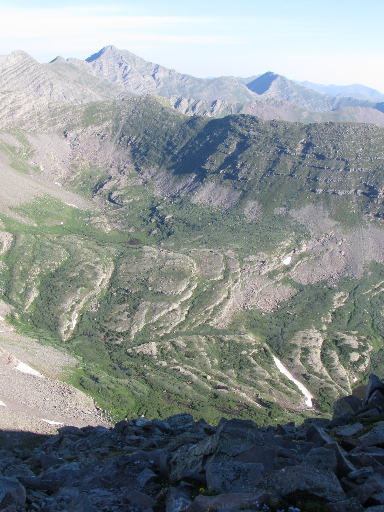 View from false summit