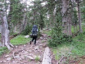 3 hour hike uphill to the campsite with loaded packs (tents, sleeping bags, food, water, change of clothes)