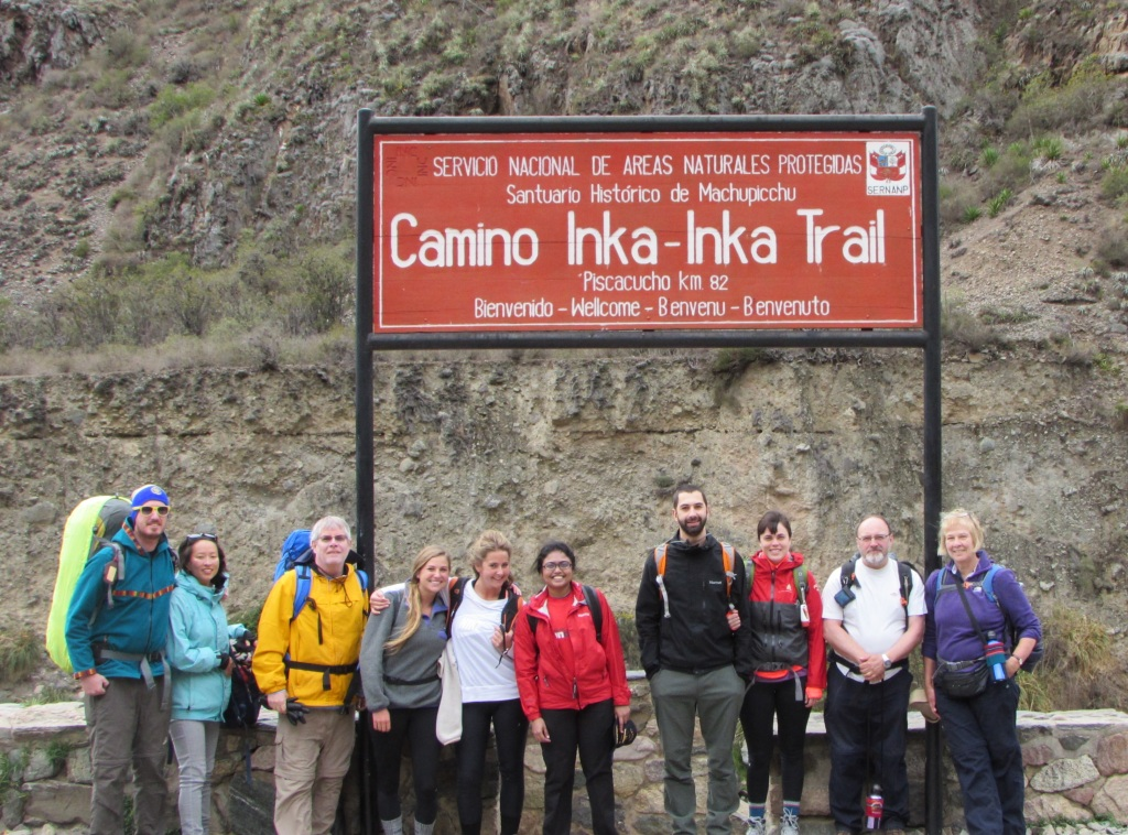 The trekkers - Karen and Sung (newlyweds from Korea), Me, fast-talking sisters Cassidy and Britie, Vanathi (lawyer from Singapore), Steve and Kat from New York, and Peter and Jill who live near Stonehenge in the UK