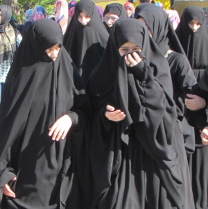 These girls were tourists from a more strict Islam country I believe