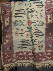 Kilim rug I bought near the Grand Bazaar