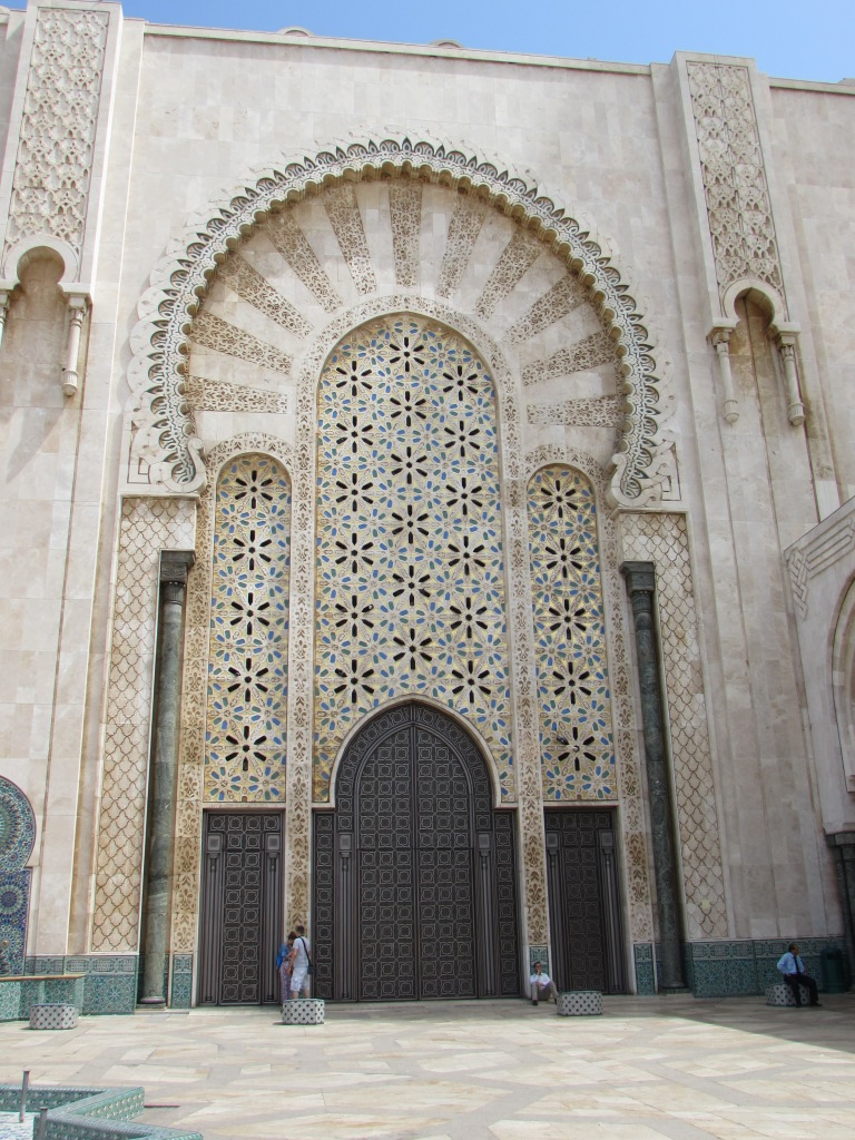 The new Hassan II Mosque in Casablanca can hold 20,000 worshippers.