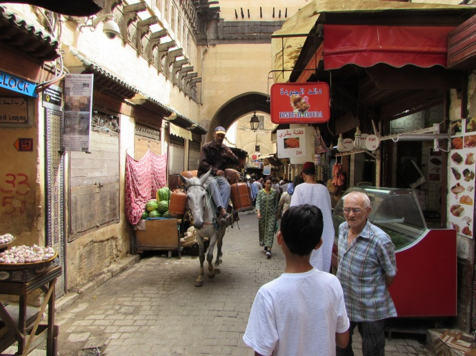 The medina (old city) with its souks (shops and markets)