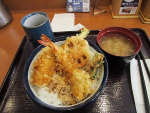 Shrimp and Veggie Tempura with miso soup