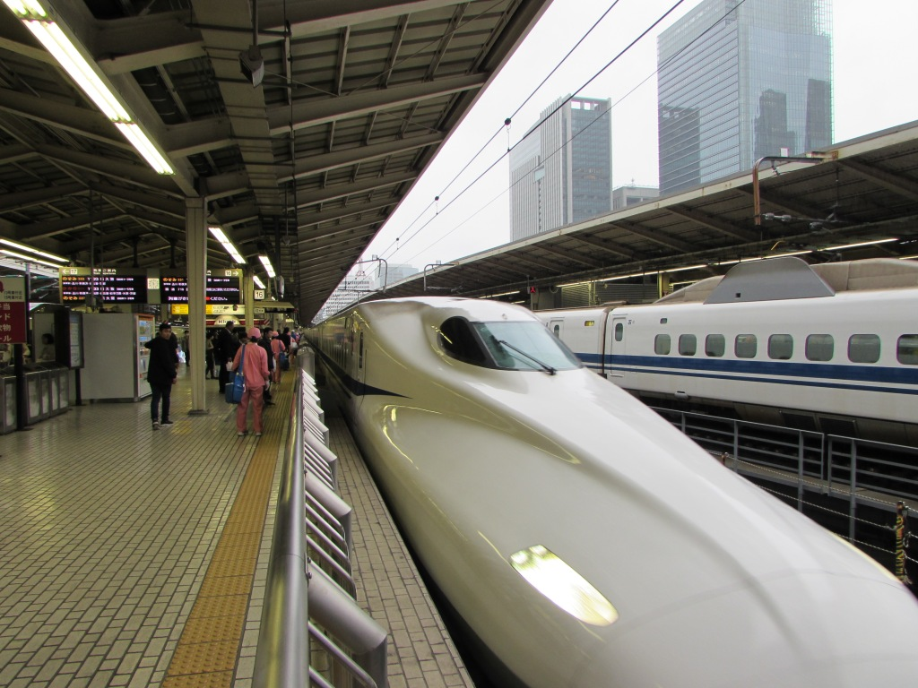I took the Shinkansen Nozomi bullet train from Tokyo to Kyoto - paid a little extra for a reserved seat as the trains that day were crowded. Cost $250. Ride took about 2 hours and 15 minutes.
