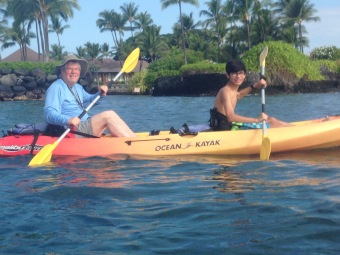 Me and Grandpa Ray (Ray Else) Kayaking