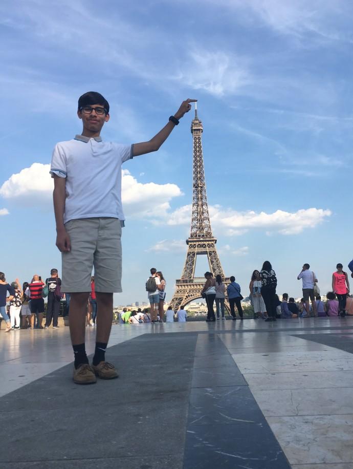 Paris Andrew tall as Eiffel Tower