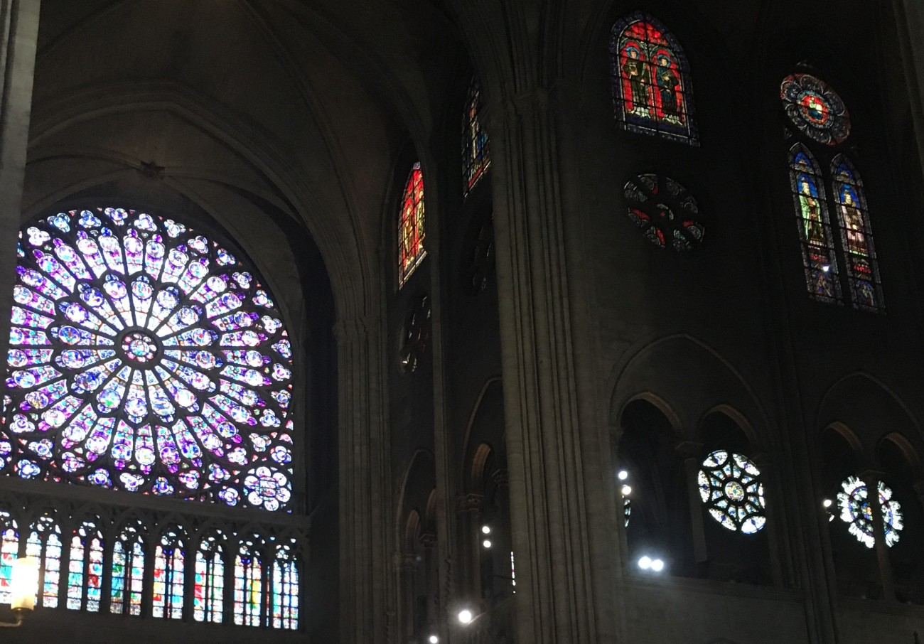 Paris Notre Dame stained glass